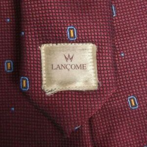 Burgundy Self Tipped LANCOME Silk Tie