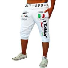 Mens Casual Sport Jogger Slim Sports Jogging Pants Gym Capris Trousers Shorts