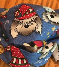 Christmas Dogs Fabric Face Mask w/ Filter pocket 100% Cotton Washable- USA