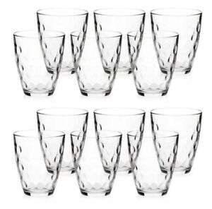 SET OF 12 GLASSES Bormioli Rocco DOTS drinking glasses 390ml,