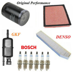 Tune Up Kit Air Oil Fuel Filters Spark Plug For JEEP GRAND CHEROKEE L6 4.0L 2001