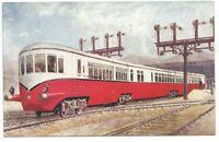 "RAILWAY - L.M.S. ""STREAM LINE Three Car DIESEL SET Postcard *"