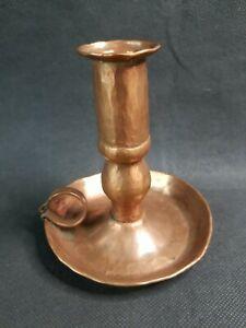 VTG Hammered Copper Candle Holder Hand Made Finger Chamber Primitive Look