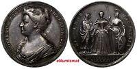 GREAT BRITAIN Silver 1727 Coronation Medal of Queen Caroline by J. Croker 34mm