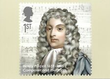 ROYAL MAIL STAMP POSTCARD<>EMINENT BRITONS<>HENRY PURCELL