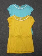 BANANA REPUBLIC Turquoise Golden Yellow Lot Of 2 Short Sleeve Tops Sz XS EE4763