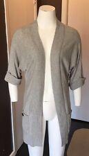 Ruehl womens grey sweater sz XS cardigan 3/4 sleeve