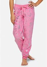 NWT Justice Girls Fleece Pajama Pants Mermaid Shimmer Foil Print Pink Size 10