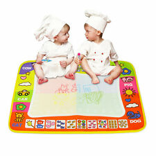 29*45.5cm Kids Write Draw Paint Magic Doodle Mat Baby Play Mat With Magic Pen IB