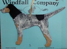 Bluetick Coonhound Dog Velour & Ultra Suede Christmas Ornament # 1 by Wc