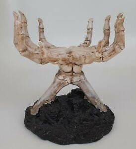 Yankee Candle Bedazzled Skull Skeleton Hands Halloween Collection Jar Holder