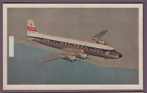 1953 Piston Engine Douglas DC-7 National Airlines Vintage Card