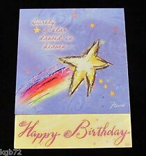 Leanin Tree Birthday Greeting Card Wishes Stars Multi Color Notions Series P26