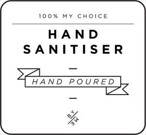 MINI Hand Sanitiser Decal - White (removable/ reusable/ waterproof DIY label)