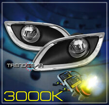 2009-2011 TOYOTA YARIS 2/3DR BUMPER DRIVING CHROME FOG LIGHT LAMP +3K HID+SWITCH