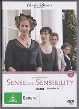 Classic Drama BBC DVD SENSE AND SENSIBILITY EPISODES 1 - 2  2+4 PAL
