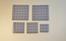Lego Parts 3958 3031 11212 Light Bluish Gray 6x6 4x4 2x2 Plate  LOT of 5  #LX239