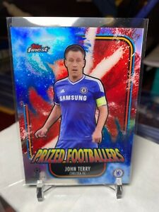 2020-21 TOPPS FINEST JOHN TERRY PRIZED FOOTBALLERS FUSION BLUE RED REFRACTOR /45