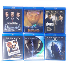 Scorsese Nolan Blu-Ray LOT Goodfellas, Aviator, Departed, Memento, Prestige,Dark