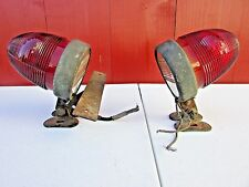 Rare Outlook Tail Lights Accessory Bullet Lamps Glass Lens Car Truck Rat Rod