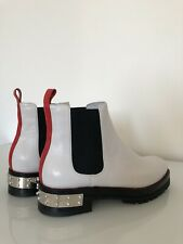 Alexander McQueen White Leather Boots Size 40 RP£950