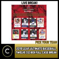 2019 LEAF ULTIMATE BASEBALL 12 BOX (FULL CASE) BREAK #A654 - PICK YOUR TEAM