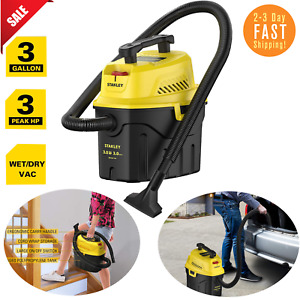 SHOP VAC WET DRY VACUUM 3 Gal 3 HP 3 Horsepower With Attachments - Black Yellow