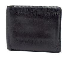 Penguin Mens Leather Card Wallet Bifold Black