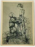 Sulamith Wulfing Art Card Romeo Juliet Young Love Postcard Size J8