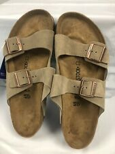 Birkenstock Arizona BS Taupe Suede Leather Slide Sandals #45 Men's 12 @