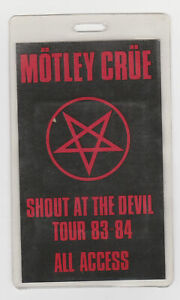 MOTLEY CRUE Shout At The Devil 1983 1984 Backstage Pass Laminate All Access