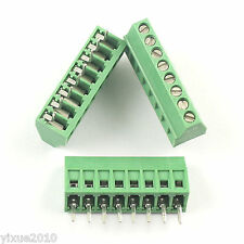 "10Pcs 2.54mm 0.1"" Universal 8 Pin 8 Poles PCB Screw Terminal Block Connector"