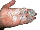 Jet Crystal Quartz 7 Chakra Round Reiki Engraved Set Gemstone A Water Charging