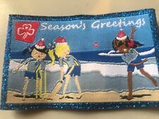 Girl Guides / Scouts Seasons Greetings Beach