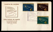 1962 PARAGUAY FDC SPACE PLANETS CACHET COMBO