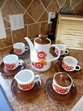 Vintage Retro 70s Coffee Set Mitterteich Bavaria Germany 15 Pc.