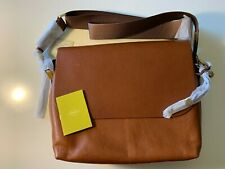 Fossil Maya Flap Crossbody Brown Leather Shouder Bag ZB7617200