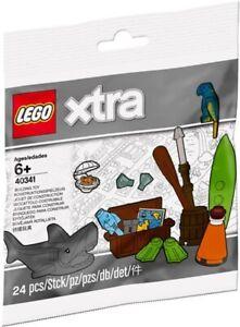 Lego 40341 Set Xtra Wasserzubehör Beach Accessoires Polybag Hai Shark Papagei