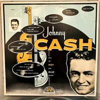 JOHNNY CASH With His Hot & Blue Guitar LP 1981 Sun Charly UK PRESS NM / VG+