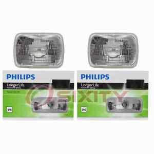 2 pc Philips High Low Beam Headlight Bulbs for GMC C1500 C1500 Suburban ai