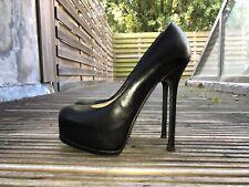 Authentic Black YSL YVES SAINT LAURENT Tribute Tribtoo 105 heels size 39