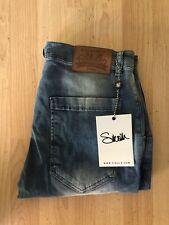 Sik Seda Ripped Jeans/Tamaño Grande/34 Cintura/con aspecto envejecido/azul ácido lavado