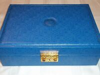 Vintage Rare Blue Large Rolex Presentation Jewelry Box With Extra Tray 51.00.01