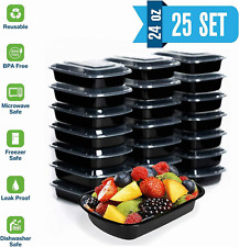 24oz Food Containers Meal Prep BPA FREE Microwavable,Reusable,Food Storage