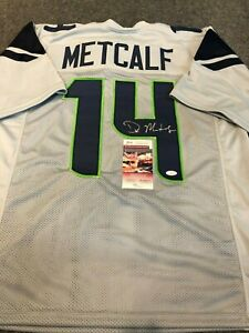SEATTLE SEAHAWKS DK METCALF AUTOGRAPHED SIGNED JERSEY JSA COA