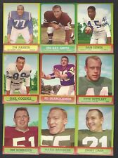 1963 Topps Football Finish Your Set Lot Pick Any Card Most NM Near Mint REVISED
