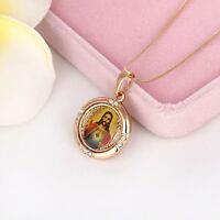 Free Shipping 18k Yellow Gold Filled Jesus cross Pendant Necklace Fashion Gift