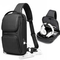 Sling Backpack Oxford cloth Waterproof Crossbody Shoulder Sport Bag USB Port