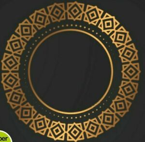 Yoga Mandala Wall Art Sticker Self adhesive Home India Rosetta Gold Removable