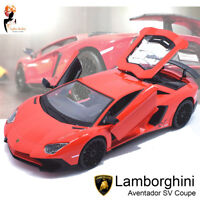 1:24 Lamborghini Aventador SV Coupe Burago Diecast Metal Model Car Boys Gift